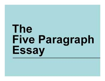 Writing an essay parts of a paragraph